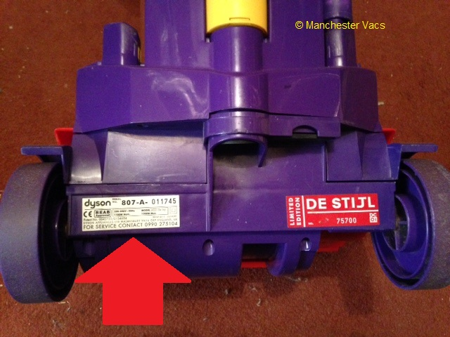 Where To Find The Serial Number On Your Dyson Vacuum Cleaner